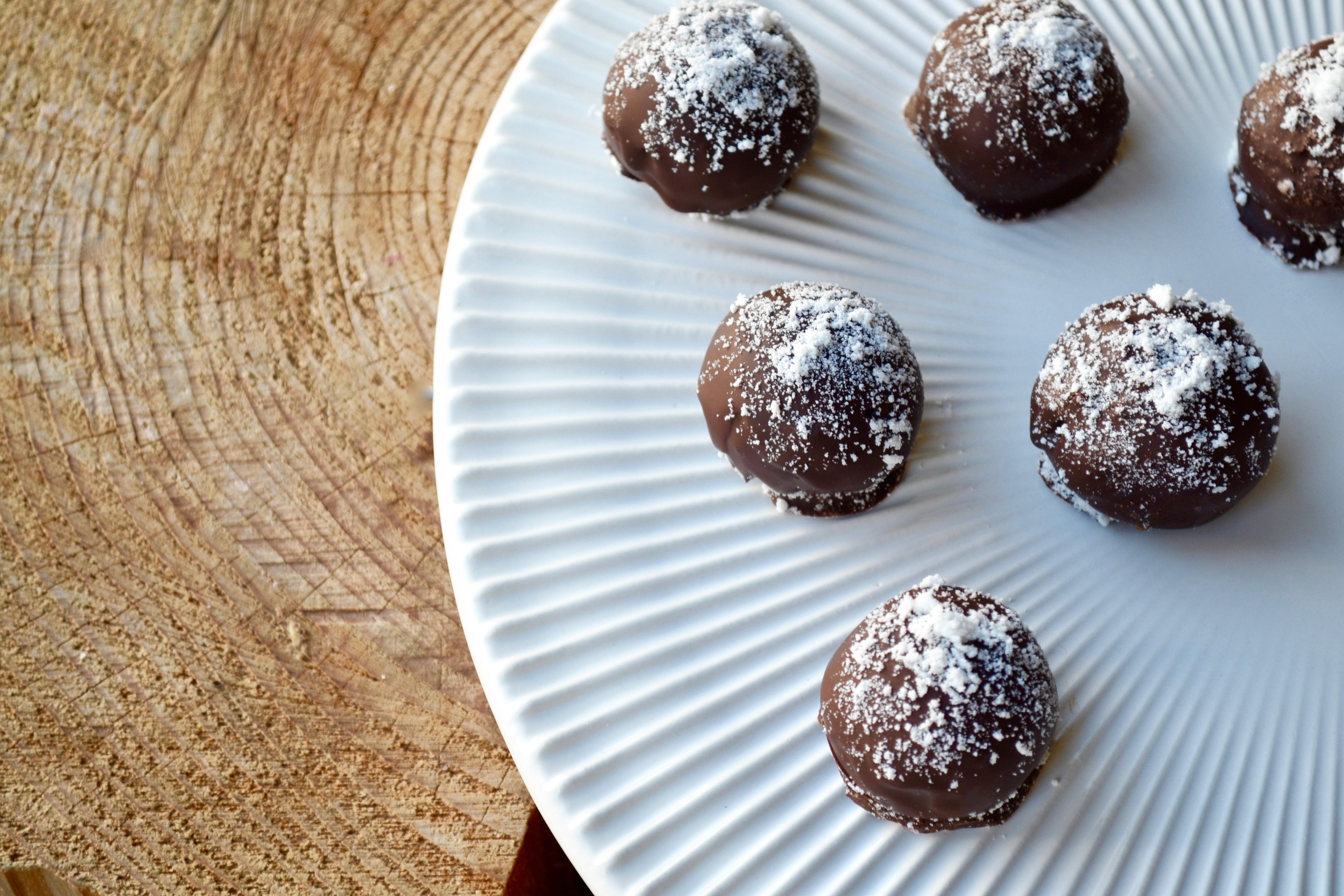 Kokoskarameller med chokolade